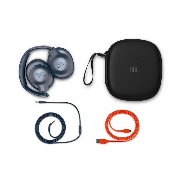JBL EVEREST™ ELITE 750NC - Blue - Wireless Over-Ear Adaptive Noise Cancelling headphones - Detailshot 2