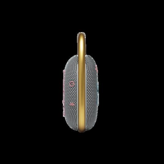 JBL CLIP 4 - Grey - Ultra-portable Waterproof Speaker - Left