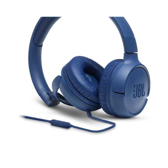 JBL TUNE 500 - Blue - Wired on-ear headphones - Detailshot 3