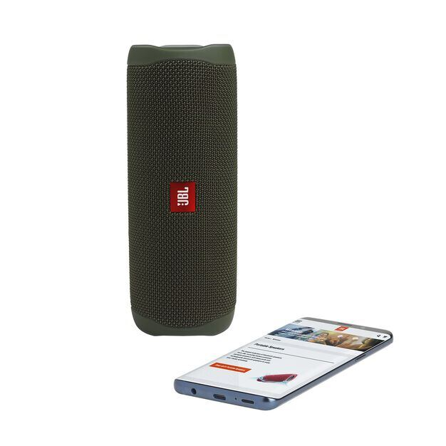 JBL FLIP 5 - Green - Portable Waterproof Speaker - Detailshot 2