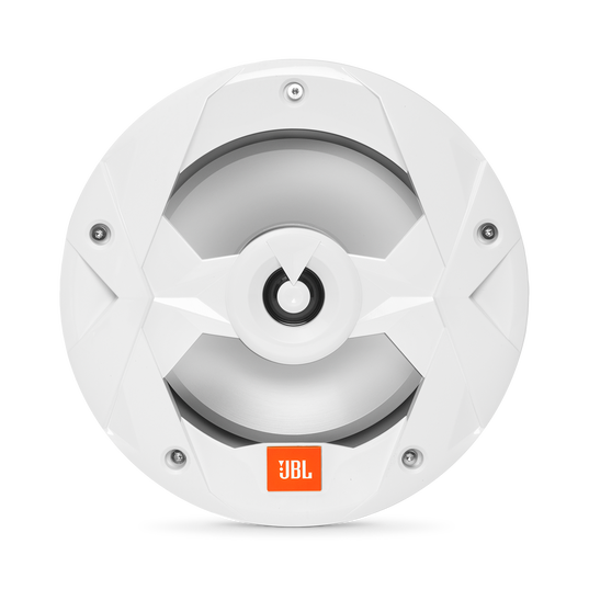 "Club Marine MS8LW - White Gloss - 8"" (200mm) two-way marine audio speaker with RGB lighting – White - Front"