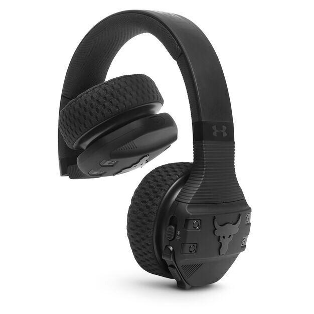 UA Sport Wireless Train Project Rock – Engineered by JBL - Black - On-ear sport Headphones - Detailshot 3
