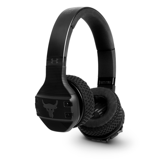 UA Sport Wireless Train Project Rock – Engineered by JBL - Black - On-ear sport Headphones - Hero