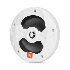 "Club Marine MS8LW - White Gloss - 8"" (200mm) two-way marine audio speaker with RGB lighting – White - Hero"