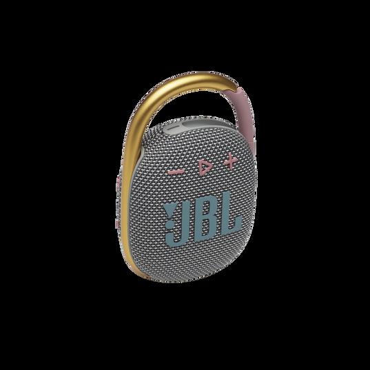 JBL CLIP 4 - Grey - Ultra-portable Waterproof Speaker - Hero