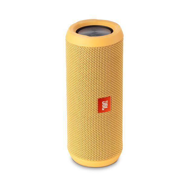 JBL Flip 3 - Yellow - Splashproof portable Bluetooth speaker with powerful sound and speakerphone technology - Detailshot 2