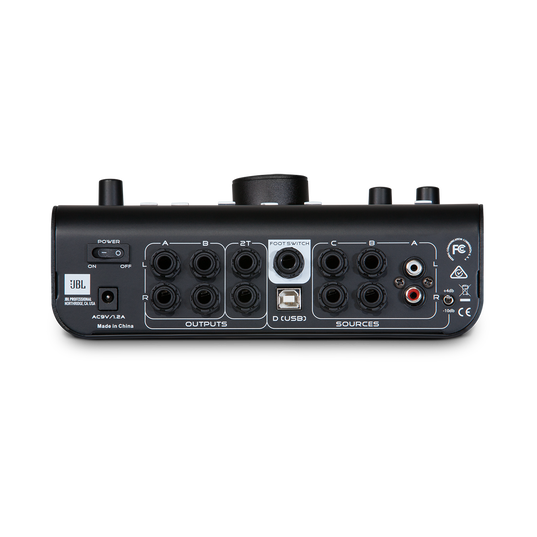 JBL M-Patch Active-1 - Black - Precision Monitor Control Plus Studio Talkback and USB Audio I/O - Back