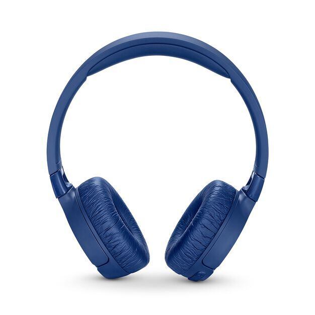 JBL TUNE 600BTNC - Blue - Wireless, on-ear, active noise-cancelling headphones. - Front