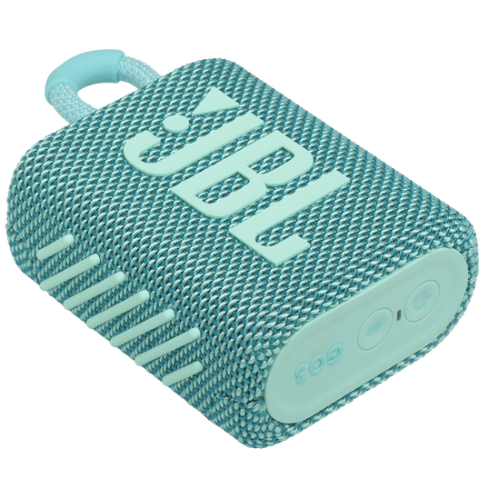 JBL Go 3 - Teal - Portable Waterproof Speaker - Detailshot 3