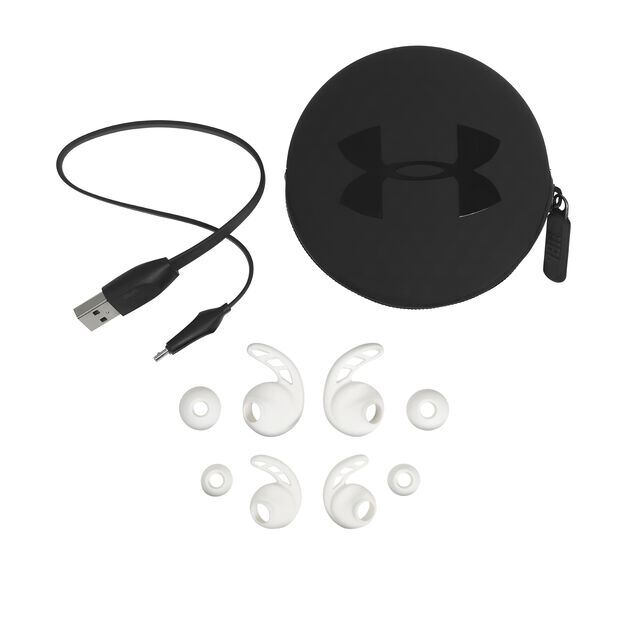UA Sport Wireless PIVOT - White - Secure-fitting wireless sport earphones with JBL technology and sound - Detailshot 5