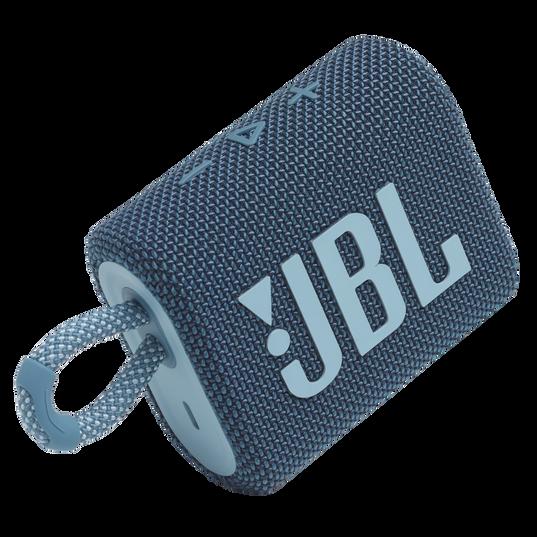 JBL GO 3 - Blue - Portable Waterproof Speaker - Detailshot 1