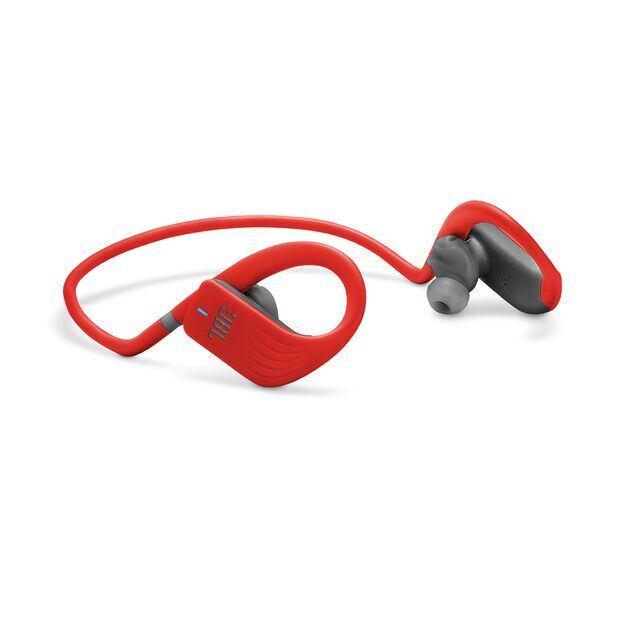 JBL Endurance JUMP - Red - Waterproof Wireless Sport In-Ear Headphones - Detailshot 1