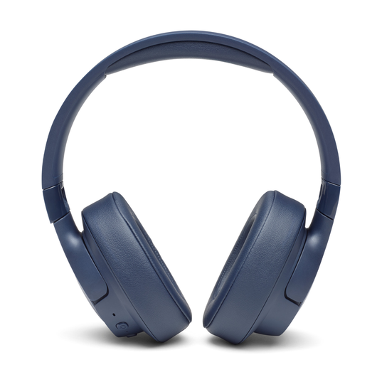 JBL TUNE 750BTNC - Blue - Wireless Over-Ear ANC Headphones - Front