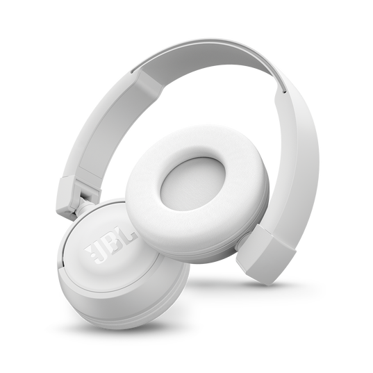 JBL T450BT - White - Wireless on-ear headphones - Detailshot 1