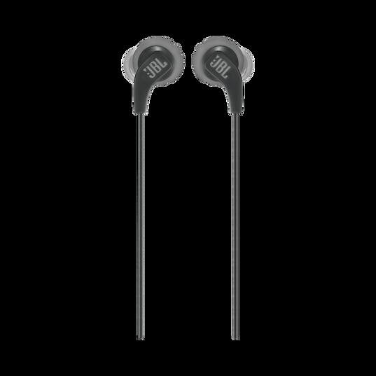 JBL Endurance RUN - Black - Sweatproof Wired Sport In-Ear Headphones - Front