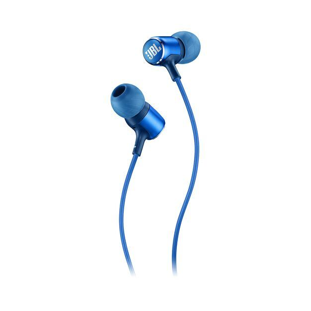 JBL LIVE 100 - Blue - In-ear headphones - Detailshot 1