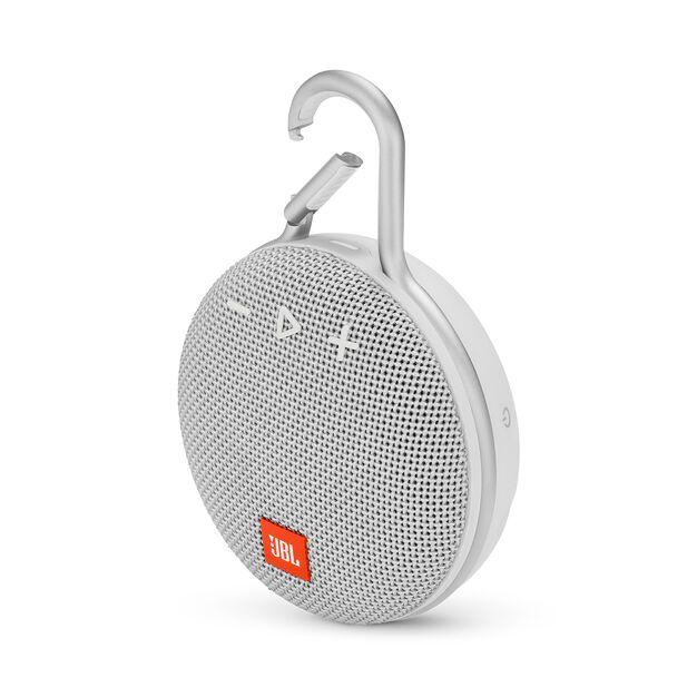 JBL CLIP 3 - Steel White - Portable Bluetooth® speaker - Hero