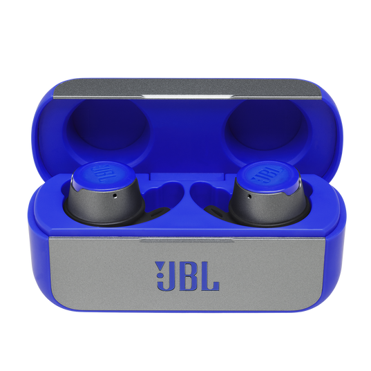 JBL Reflect Flow - Blue - True wireless sport headphones. - Hero