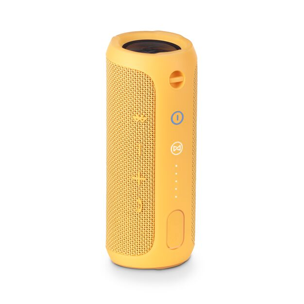 JBL Flip 3 - Yellow - Splashproof portable Bluetooth speaker with powerful sound and speakerphone technology - Back