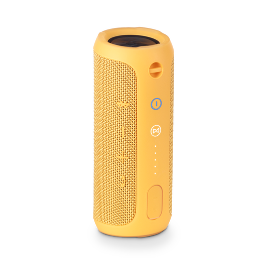 JBL Flip 3 - Yellow - Splashproof portable Bluetooth speaker with powerful sound and speakerphone technology - Back