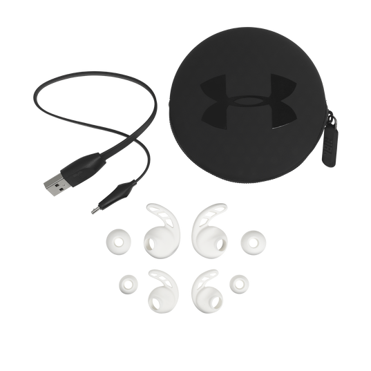 UA Sport Wireless REACT - White - Secure-fitting wireless sport earphones with JBL technology and sound - Detailshot 4