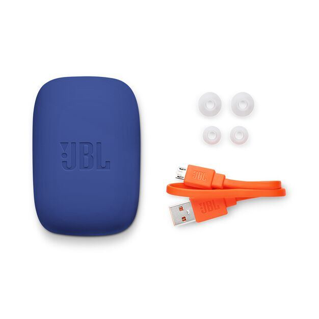 JBL Endurance JUMP - Blue - Waterproof Wireless Sport In-Ear Headphones - Detailshot 4