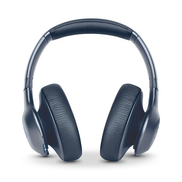 JBL EVEREST™ ELITE 750NC - Blue - Wireless Over-Ear Adaptive Noise Cancelling headphones - Front