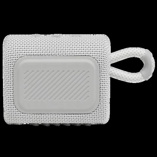JBL GO 3 - White - Portable Waterproof Speaker - Back