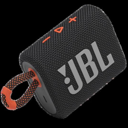 JBL GO 3 - Black / Orange - Portable Waterproof Speaker - Detailshot 1