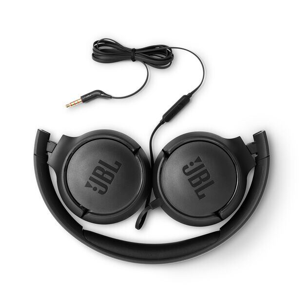 JBL TUNE 500 - Black - Wired on-ear headphones - Detailshot 1
