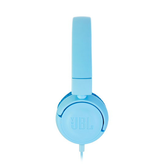 JBL JR300 - Ice Blue - Kids on-ear Headphones - Detailshot 1