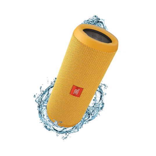 JBL Flip 3 - Yellow - Splashproof portable Bluetooth speaker with powerful sound and speakerphone technology - Hero