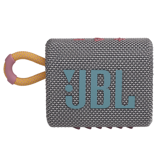 JBL Go 3 - Grey - Portable Waterproof Speaker - Front