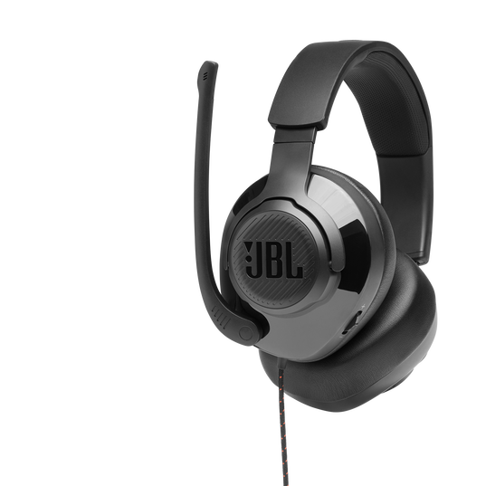 JBL Quantum 200 - Black - Wired over-ear gaming headset with flip-up mic - Detailshot 1