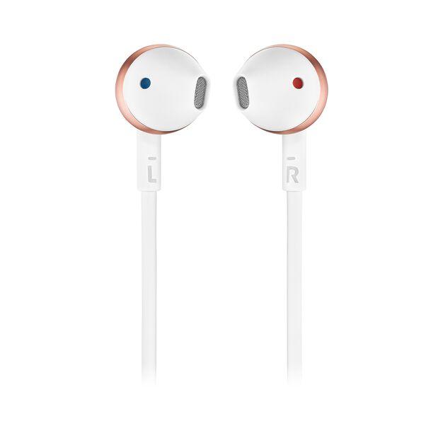 JBL TUNE 205BT - Rose Gold - Wireless Earbud headphones - Front