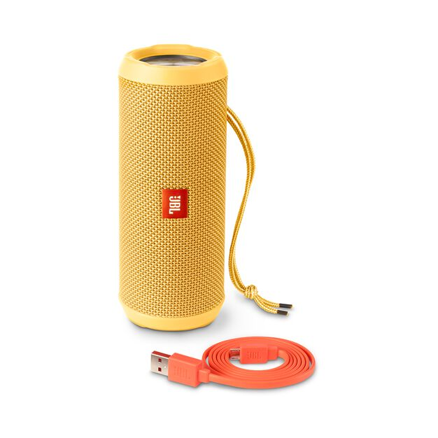 JBL Flip 3 - Yellow - Splashproof portable Bluetooth speaker with powerful sound and speakerphone technology - Detailshot 4