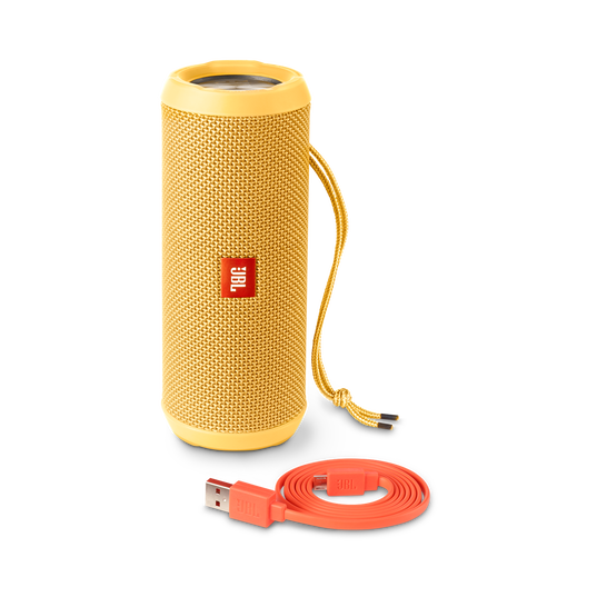 JBL Flip 3 - Yellow - Splashproof portable Bluetooth speaker with powerful sound and speakerphone technology - Detailshot 4